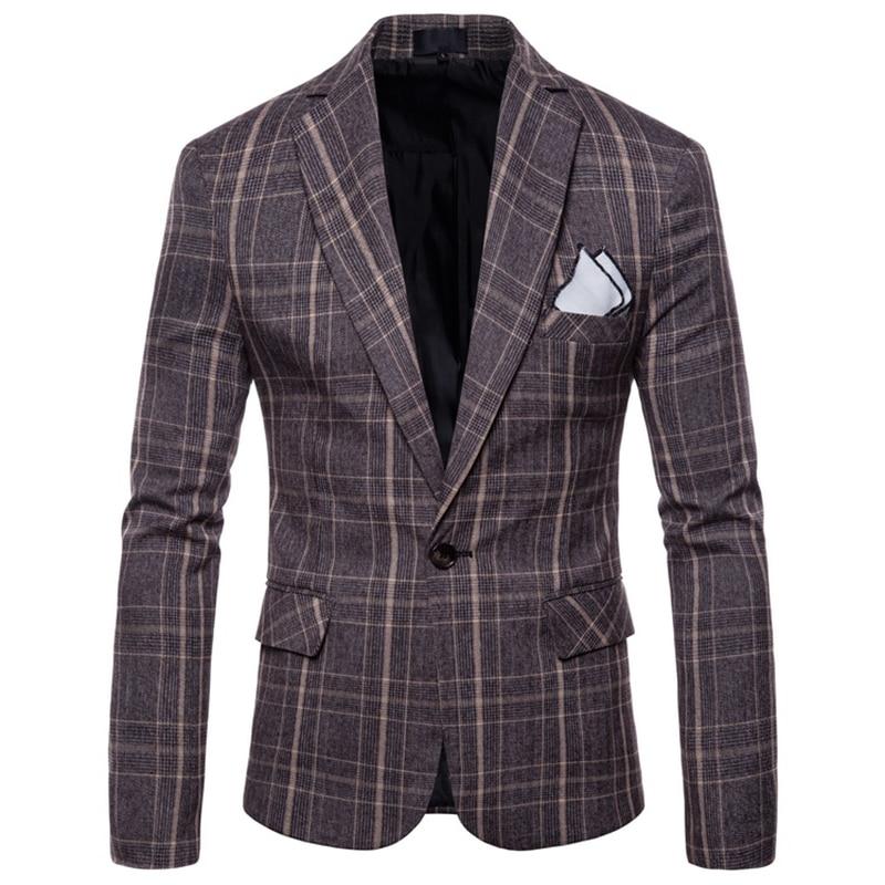 Blazers hommes 2018 angleterre Style simple bouton costume veste coton Slim Fit hommes costume manteaux affaires mariage grande taille 4XL