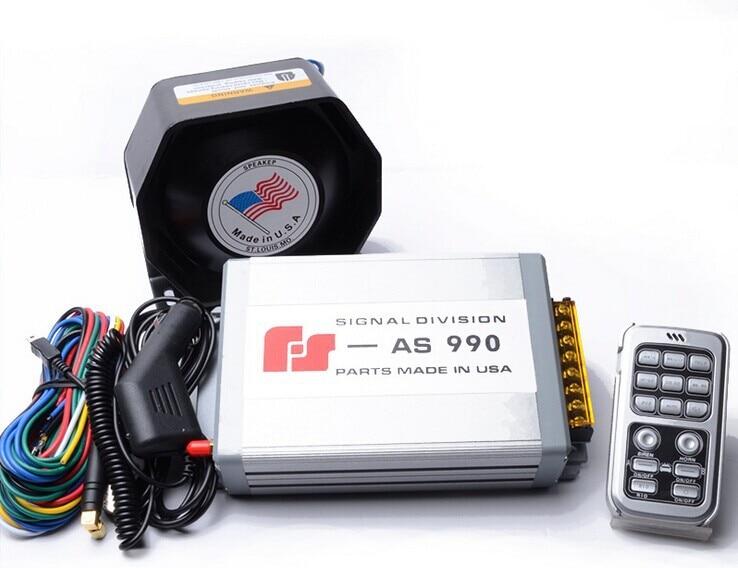 ФОТО 200W Car Alarm Siren AS990 Wireless Remote Loudspeaker Horn 18 Tone Police Horn Megaphone Car Styling Ultra Slim Speaker Buzzer