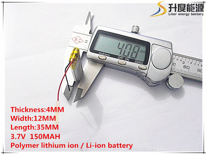Polymer Lithium Ion / Li-ion Battery For Toy,power Bank,gps,mp3,mp4,cell Phone,speaker 10pcs 401235 sd 3.7v,150mah,