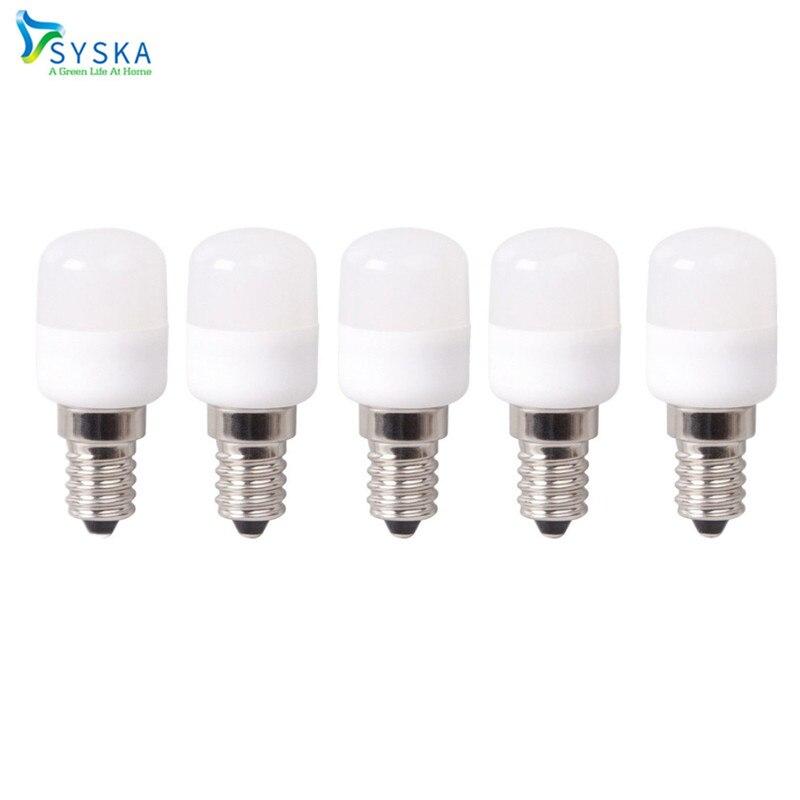 5pcs/lot Mini Refrigerator Bulb E14 LED s