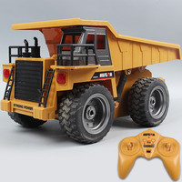 HuiNa 540 16 Channel 2.4G 1:14 RC Excavator Bulldozer Dump Truck Remote Control Truck Construction Vehicle Cars For Kids Toys