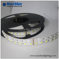 Dhl ems free verzending 20 m/partij (5 m/reel) dc24v rgbw rgb + warm wit/cool wit 4 kanaals 5050 smd led strip 144 leds/m nonwaterproof