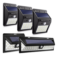 12 16 20 24 54 LEDs LED Solar Power PIR Motion Sensor Wall Light Outdoor Waterproof