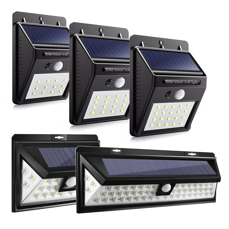 12/16/20/24/54 LEDs LED Solar Power PIR Motion Sensor Wall Light Outdoor Waterproof Energy Saving Street Garden Security Lamp