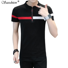 Men Polo Brand High Quality With Short Sleeve 95% Cotton Business Casual Shirts Male O-neck Collar Camisa Masculina