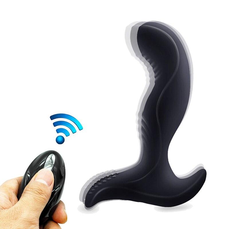 FLXUR Vibrator For man Anal Prostate Massage Male Masturbator Anal Plug Sex Toys 7 Modes Wireless Remote Vibrator Sex Products