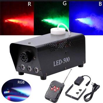 500W Wireless Remote Control Fog Smoke With RGB 3X3W LED Light For Party Live Concert Stage Effect/500W Fogger/LED Smoke Machine