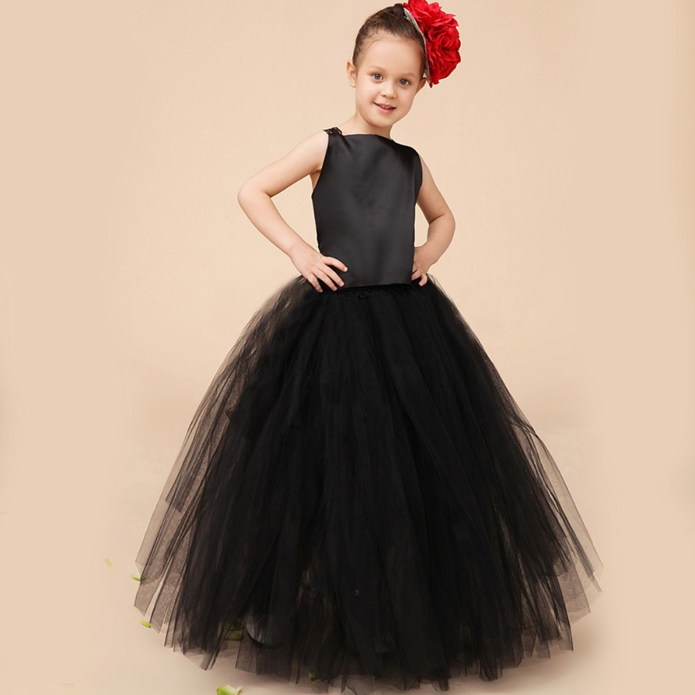 Kids Children Flower Girls Ball Gown Mesh Lace Girl Princess Tutu Dresses For Baby  Wedding Birthday Party  Dress Vestidos S2840 2016 spring winter children baby kids girls stripe princess lace mesh dress girls fall sleeveless dresses kids dresses for girls