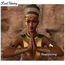 Nefertiti egypt queen praying,Full Square Diamond Embroidery,Large,5d Diy Painting,Cross Stitch,Mosaic,pattern FS3218