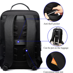 Image 4 - Bopai mochilas de viagem couro casual com 15.6 polegada portátil mochila 2 em 1 multifuncional uso diário saco viagem usb carga