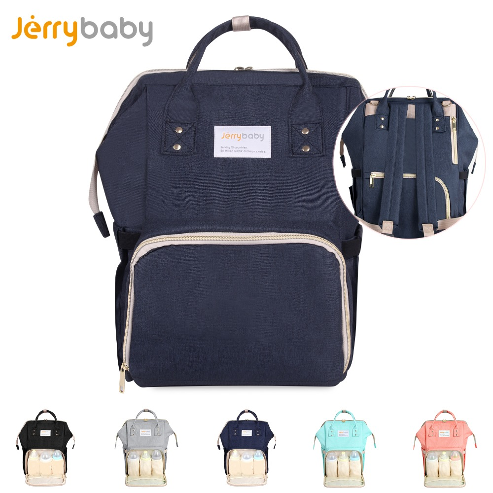 JerryBaby Baby Diaper Bag Mummy Maternity Nappy Nursing Bag Large Capacity Baby Travel Backpack Waterproof For Baby Care !