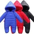 Высокое Качество Baby Rompers Зима babys Мальчики верхняя одежда Девушки Теплая Одежда Дети Комбинезон Ребенка утка вниз ползет одежду