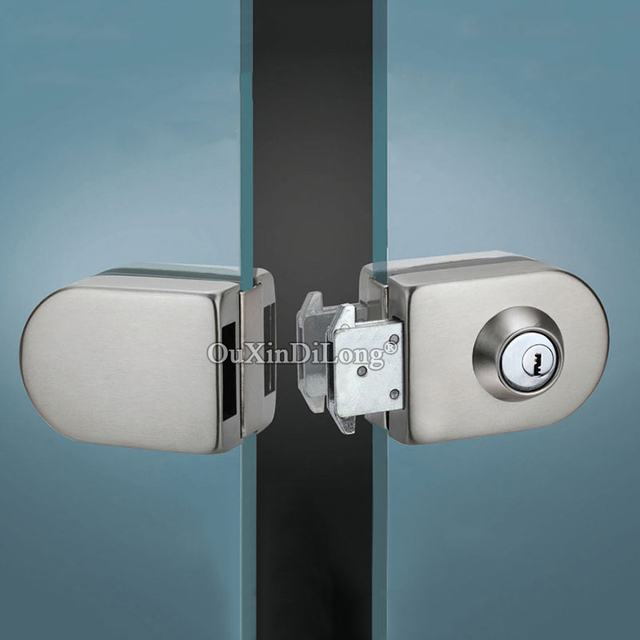Brand New Stainless Steel Double Glass Door Lock With 3 Keys For 10