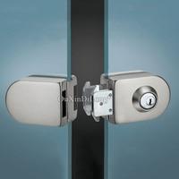 Brand New Stainless Steel Double Glass Door Lock with 3 Keys for 10~12mm Frameless Glass Door