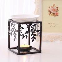 European Style Iron Art Incense Burner Essential Oil Lamp Candle Heater Yoga Censer Aromatic Stove Night Light Decor Crafts Gift