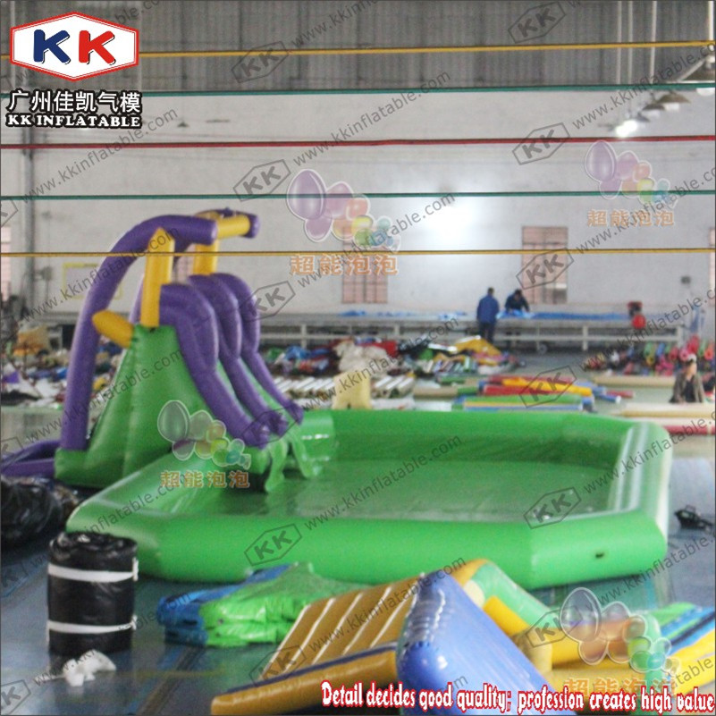 Giant Sale Commercial Adult Air Slide Kids Inflatable PVC Water Slide With Pool