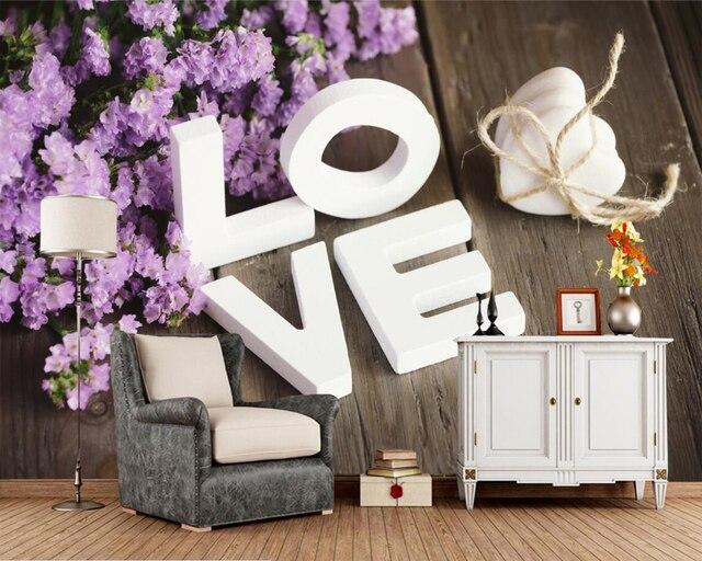 Amore Parola Inglese photo lettering wallpaper, soggiorno TV sfondo ...