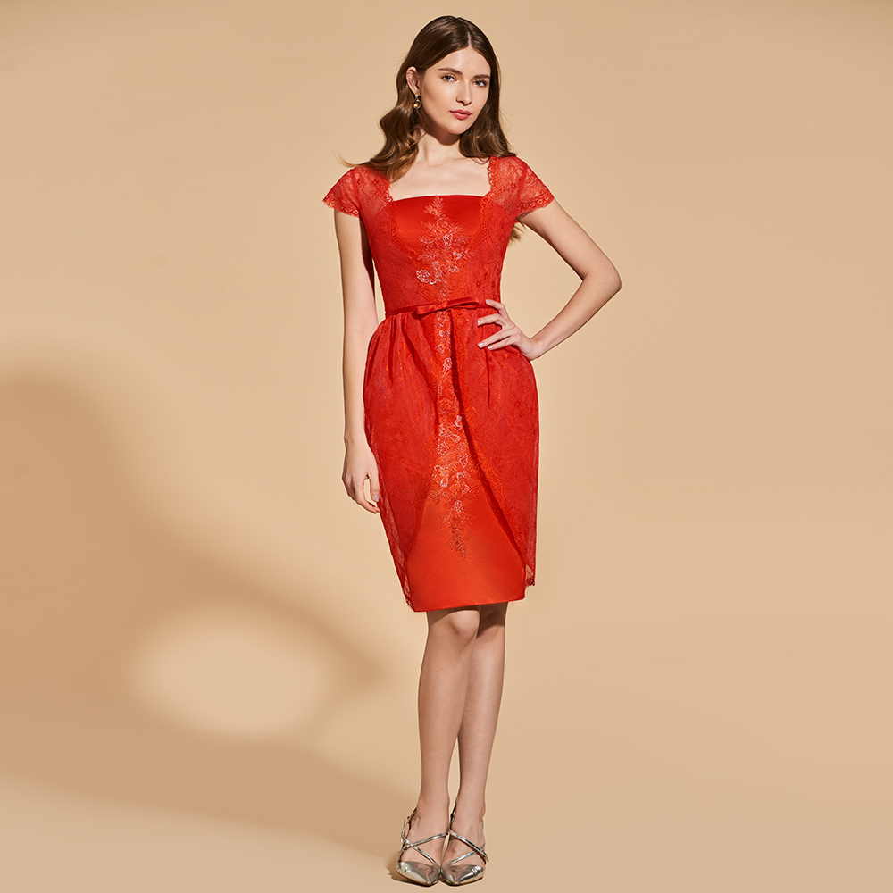 Supreme Dressv Red Cocktail Dress Cap Sleeves Knee Length Zipper Up Sheathbutton Wedding Party Formal Dress Cocktail Cocktail Dresses Dressv Red Cocktail Dress Cap Sleeves Knee Length Zipper Up