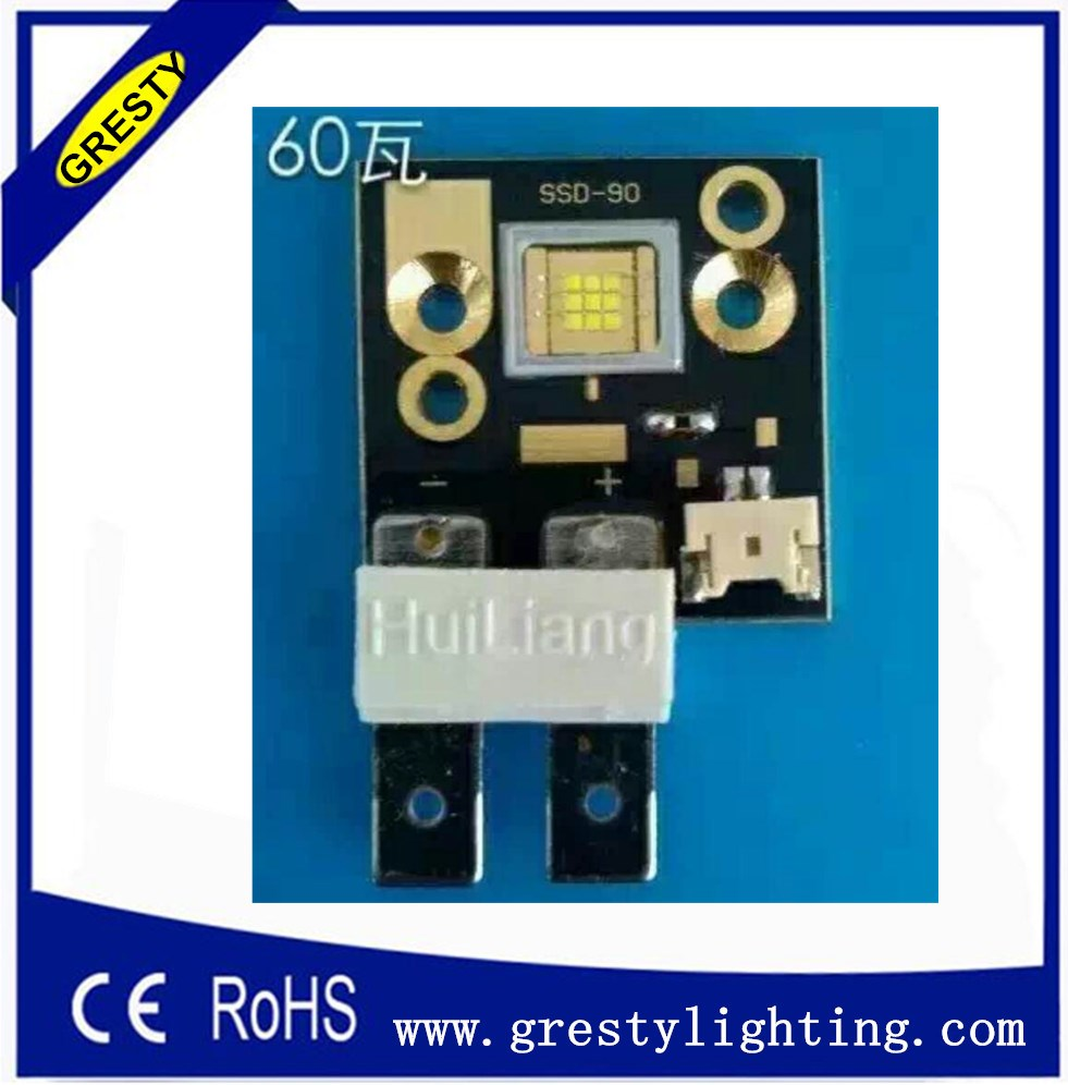Shipping By Dhl Stage Light Increase 20% Brightness Led Module Ssd90 White Color 6500k 9pcs Chips 60W Led Light Source