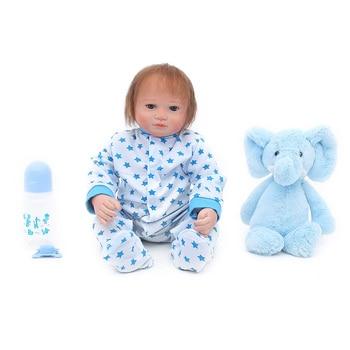 17inch 46cm Silicone Reborn Baby Dolls Baby Alive Realistic Boneca Bebe toy Lifelike Real Menina Girl Birthday Toys For Children