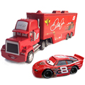 Standard Metal No.8 Uncle Jimmy Race Car Driver Container Truck and His Car Model Vehicle Toy for Children