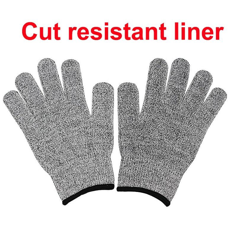 NMSafety botas de protección de seguridad ropa de trabajo de seguridad guante con corte HPPE resistente al grado alimenticio del hogar, Nivel 5 guantes