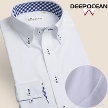 Новая мода Для мужчин S рубашка хлопковая рубашка платье Бизнес Рубашки для мальчиков Для мужчин Повседневная рубашка Camisa De Hombre