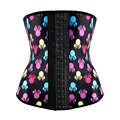 .New Fashion patterns Latex Waist Cincher Long Torso Underbust Control Corset