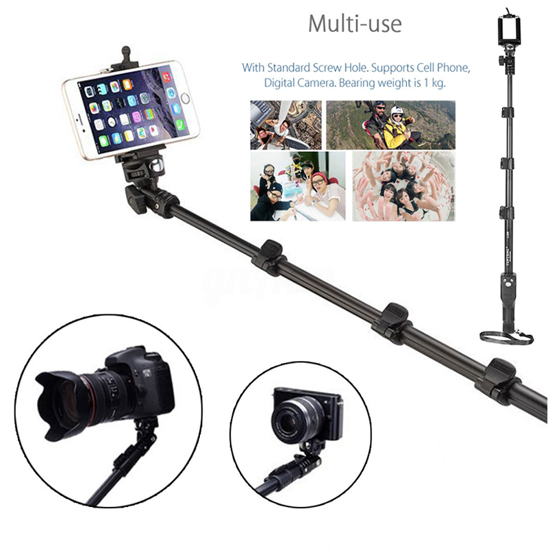Smartphone Bluetooth Self Stick Fashionable Panorama Entertainment Stick Monopod Selfie + Bluetooth Remote Control Shutter