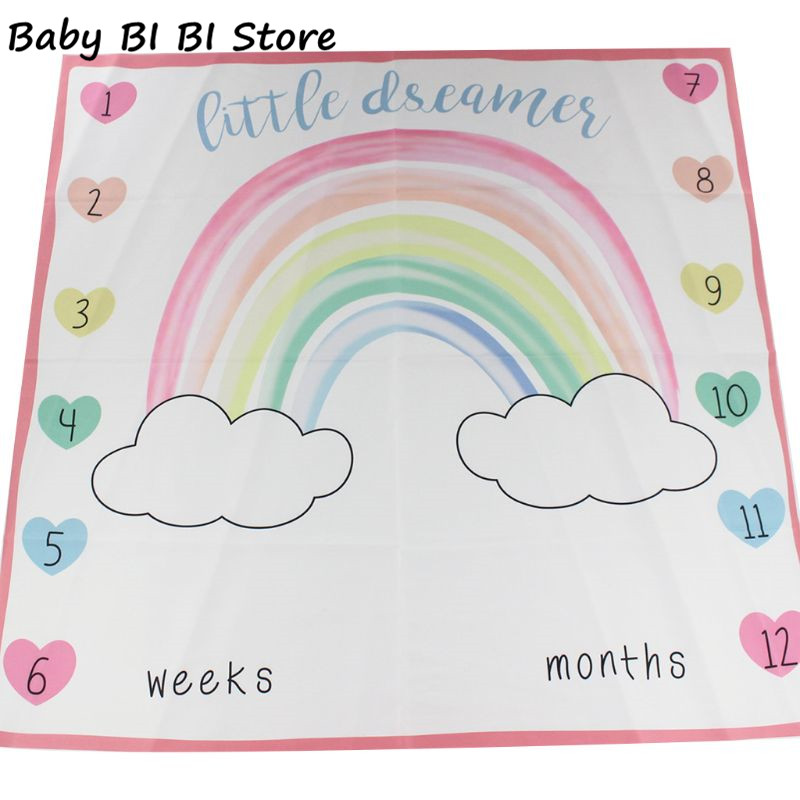 Newborn Baby Weeks Months Blanket Photography Clothing Accessories Props Rainbow Photo Background Cloth For Infants Boys Girls