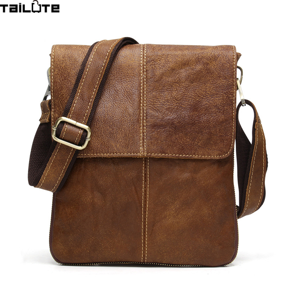 TAILUTE New Fashion Cowhide Man Messenger Bags Genuine Leather Male Cross Body Bag Casual Men Commercial Briefcase Bag manbang new fashion genuine leather man messenger bags cowhide leather male cross body bag casual men commercial briefcase bag
