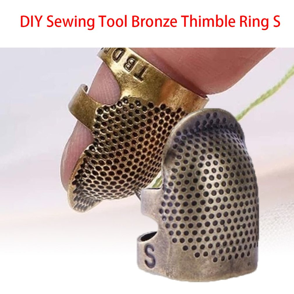 Bronze Adjustable Thimble Ring Handmade Non-Slip Embroidery Retro Needle Needle Hoop Portable Durable(China)