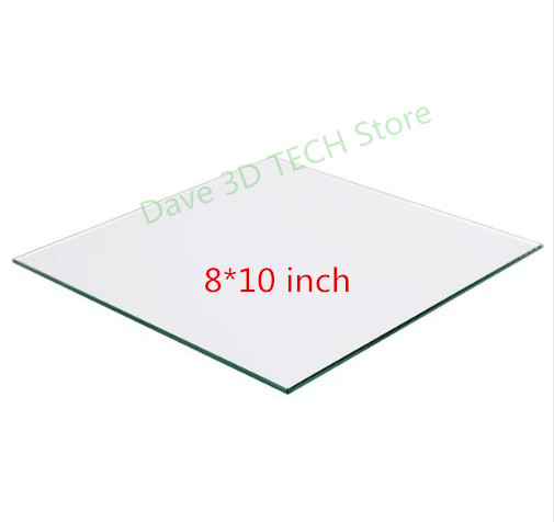 3D printer Parts 8 x 10 ( i.e 200x250x3mm ) Borosilicate Glass Build Surface3D printer Parts 8 x 10 ( i.e 200x250x3mm ) Borosilicate Glass Build Surface