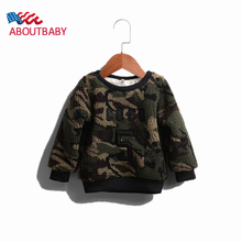 Boys Girls Sweaters 2016 New Thick Camouflage Warm Kids Wool Sweaters Fashion O-neck Sweaters Boys Girls Autumn Winter Clothes