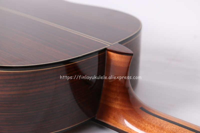 جيتار إسباني مصنوع يدويًا مقاس 39 بوصة من Finlay ، مع سطح من خشب الأرز الصلب/خشب الورد ، مع موالف بيك اب ، جيتار كلاسيكي كهربائي + غطاء واقٍ مزخرف لهاتف آيفون