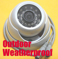1/3 700TVL SONY CCD IR Color CCTV Outdoor Security Waterproof Dome Camera 24 IR LEDs 3.6mm Wide angle