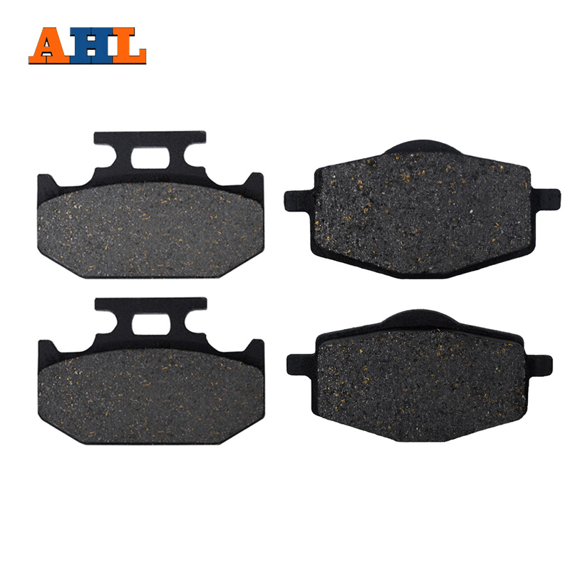 Motorcycle Front & Rear Brake Pads For YAMAHA XT 225 W XT225W (4JGI-6 Serrow) 1993-1998 Black Brake Disc Pad