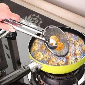 Новая многофункциональная кишенская стальная фритюрница с зажимом для еды, ситечко для жарки, сетчатый фильтр для слива масла, барбекю, Сервировочные щипцы, кухонные инструменты