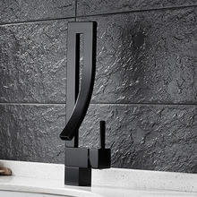 Free shipping Creativity kitchen faucet with Top quality blackened sink by solid brass black water