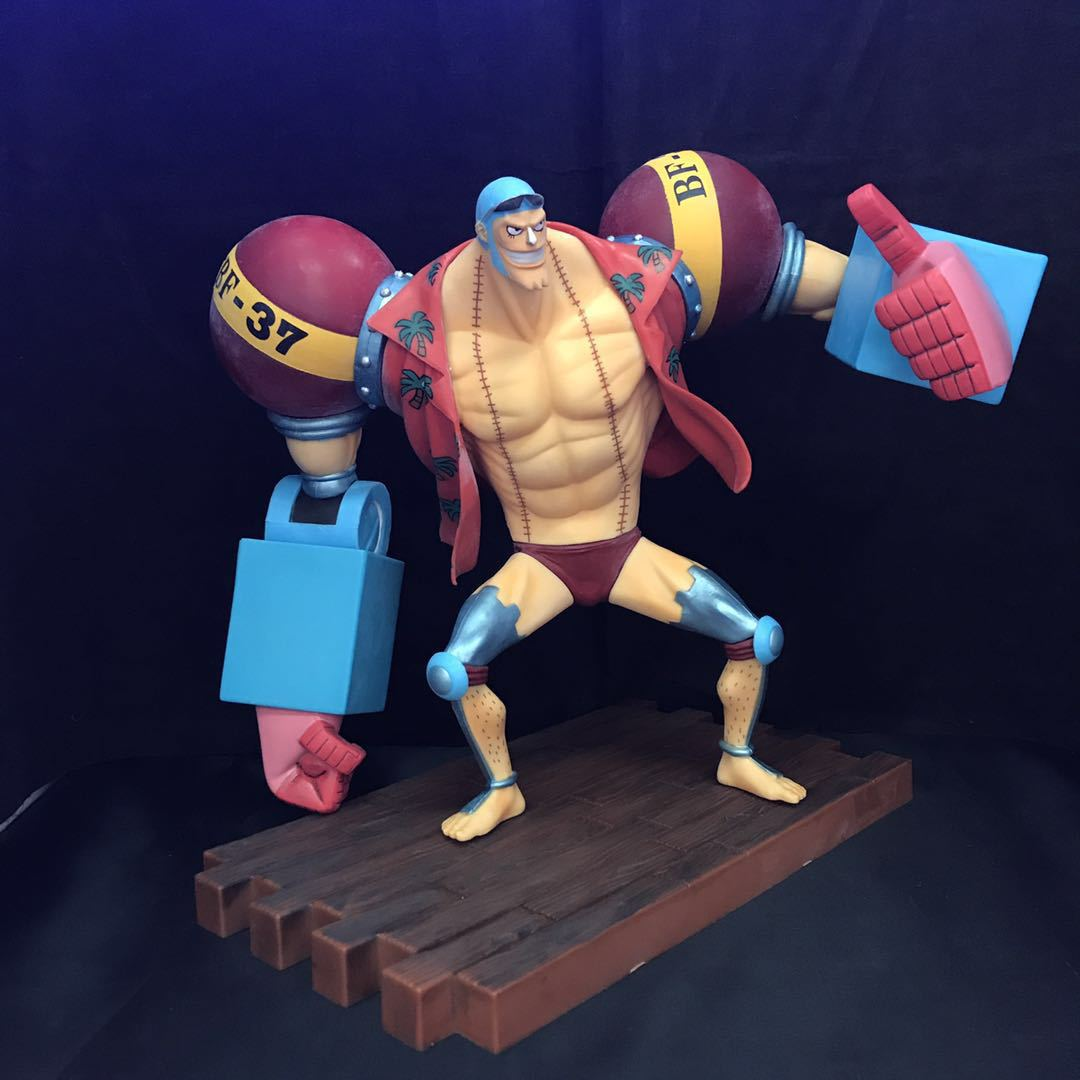 Anime ONE PIECE SA Second generation Francis for the New World Action Figure Model Toys 25cm