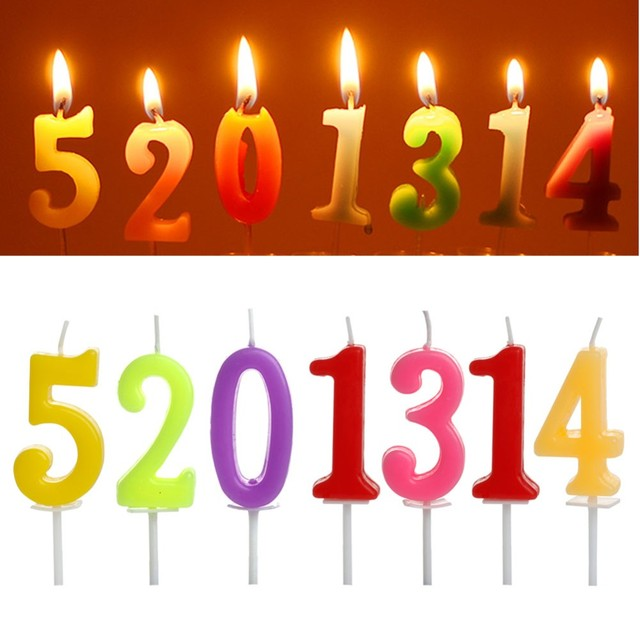 Cake Numbers Cartoon Age Candle Kids Baby Birthday 0 1 2 3 4 5 6 7 8 9 Anniversary Party Supplies Decoration