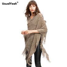 8d9668d6bd279b Autumn Winter Women Sweater Female Batwing Stripes Fringed Pullovers Women  Tops Poncho Shawl Cape Pull Femme Sweter Jumper