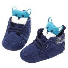 Baby Shoes Kid Boy Girl Fox Cotton Cloth First Walker Anti-slip Soft Sole Toddler Sneaker