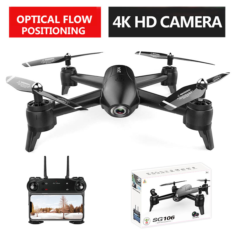VODOOL SG106 RC Drone WiFi FPV Optical Flow 4K 1080P 720P HD Dual Camera RC Quadcopter