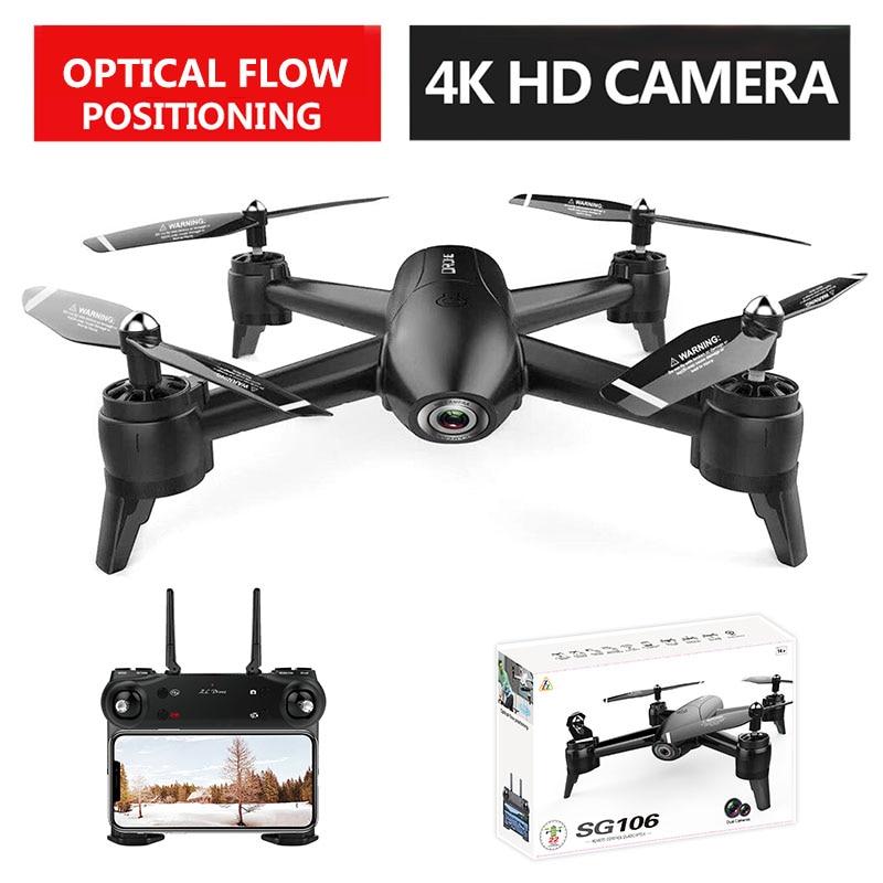VODOOL SG106 RC Drone WiFi FPV Optischen Fluss 4K 1080P 720P HD Dual Kamera RC Quadcopter Echt zeit Luft Video Flugzeug Spielzeug Kinder