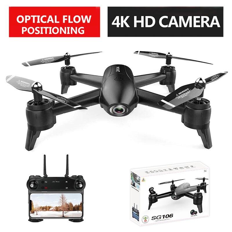 VODOOL SG106 RC Drone WiFi FPV flux optique 4K 1080P 720P HD double caméra RC quadrirotor en temps réel aérien vidéo avion jouets enfants