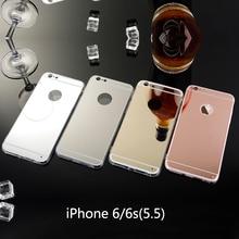 Rose Gold Phone Cases For Aifon iPhone 6 Plus Soft TPU Mirror