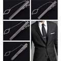 2PCS Hot Practical Men Silver Tone Necktie Clasp Clip Straight Tie Bar Ornament Wedding Decor