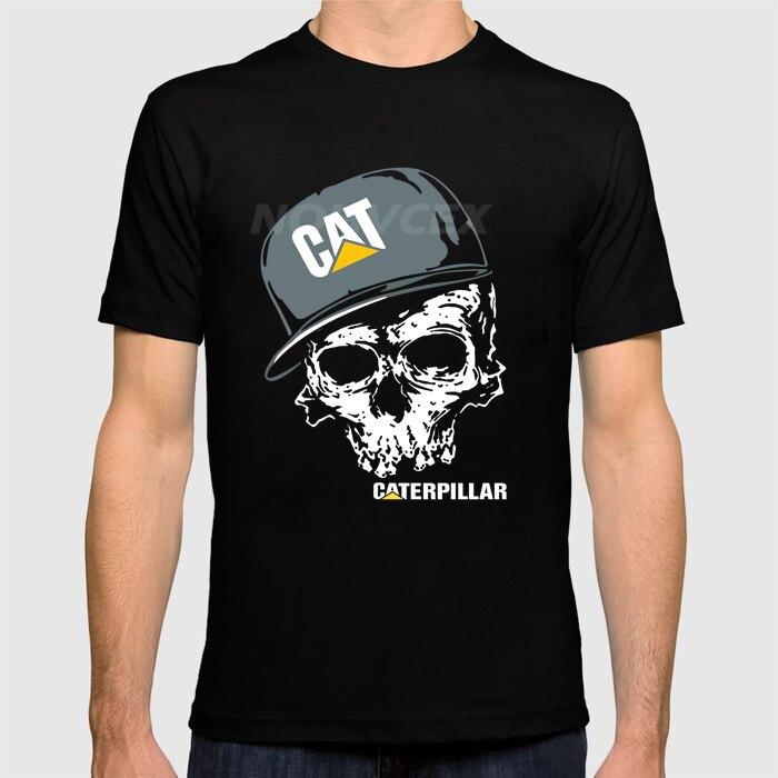a7d7ae92b52b Fashion Caterpillar Logo Graphic Short Sleeve Black Funny T-Shirts Good  Quality Brand Cotton Summer
