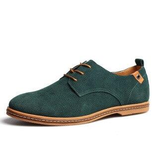 Male   Suede   Oxford   Leather   Dress Shoes Zapatillas Men Flats Plus Big Size Snakers Man Brand Men Shoes England Trend Casual Shoes
